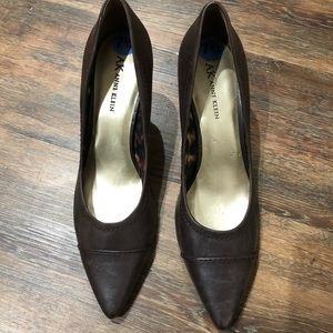 AK Anne Klein leather heels Size 7.5M